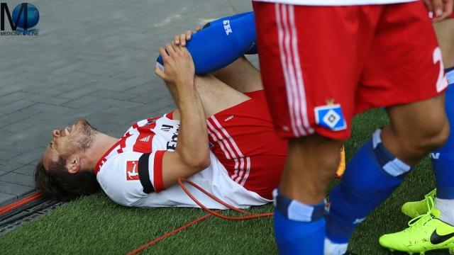 La stagione di Nicolai Müller è durata 8 minuti, il tempo di rompersi il