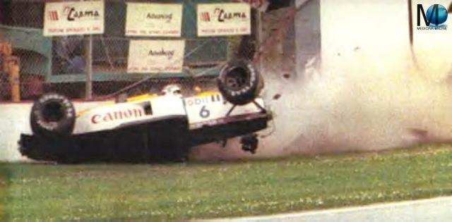 MEDICINA ONLINE NELSON PIQUE 1987 WILLIAMS HONDA TAMBURELLO CRASH ITALIA WIN WINNER RACE MARANELLO crash INCIDENTE IMOLA SAN MARINO GP GRAN PREMIO FORMULA 1 FERRARI FIRE FUOCO USTIONI