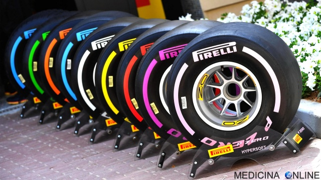 MEDICINA ONLINE PIRELLI P ZERO TIRES TYRES FORMULA 1 ONE GP GRAN PREMIO SLICK GOMME PNEUMATICHE COLORS COLORI MESCOLA DURA VELOCE TEMPERATURA DIFFERENZE QUALIFICHE SOFT MEDIUM WET HYPERSOFT 2018.jpg