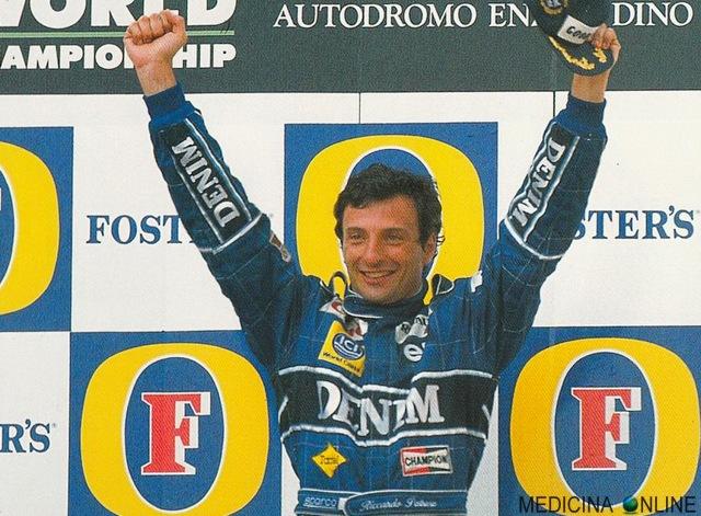 MEDICINA ONLINE RICCARDO PATRESE PILOTA FOTO GP SAN MARINO IMOLA ITALIA 1990