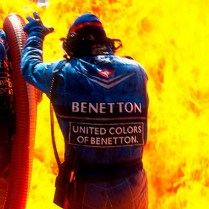1994 German Grand Prix. Hockenheim, Germany. 29-31 July 1994. Jos Verstappen (Benetton B194 Ford) came in for his pitstop. As the Refueller pulled the fuel hose away the valve stuck open allowing fuel to still come out of the nozzle and over the car which ignited into a huge fireball. Ref-94 GER 06. World Copyright - LAT Photographic