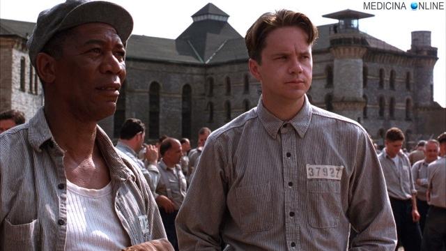 MEDICINA ONLINE Andy Dufresne Tim Robbins da film Le ali della libertà aforismi The Shawshank Redemption del 1994 diretto da Frank Darabont, tratto dal racconto di Stephen King Rita Hayworth e la redenzione di Shawshank.jpg
