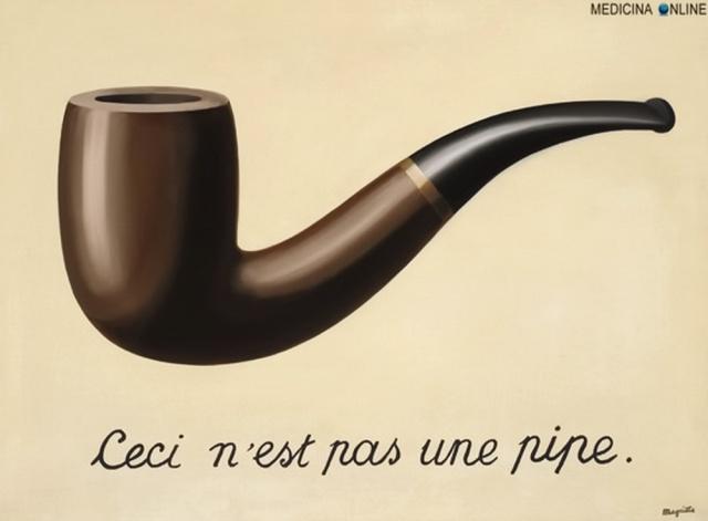 MEDICINA ONLINE La Trahison des images Ceci n'est pas une pipe QUESTA NON E UNA PIPA pittore surrealista belga René Magritte ARTE PITTURA OLIO TELA QUADRO.jpg