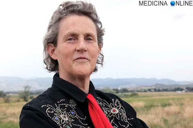 MEDICINA ONLINE Mary Temple Grandin (born August 29, 1947) is an American professor of animal science at Colorado State University Temple Grandin is a 2010 movie biopic directed by Mick Jackson and starring Claire Danes.jpg
