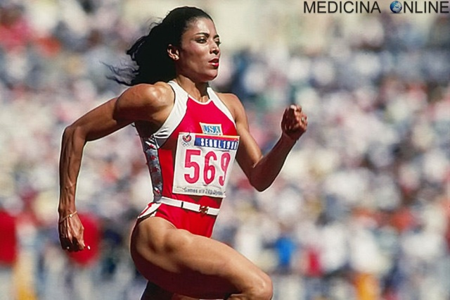 MEDICINA ONLINE WORLD RECORD 100 ATLETICA WOMAN DONNA VELOCITA Florence Griffith-Joyner.jpg