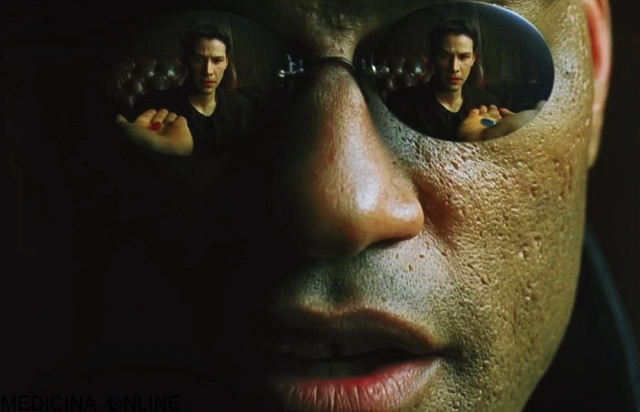 MEDICINA ONLINE MATRIX NEO MORPHEUS MATRIX PILLOLA ROSSA BLU SCELTA REALTA SCENA FILM CINEMA ANDERSON KEANU REEVES RED PILL BLUE PILL CHOICE SCENE WALLPAPER SFONDO.jpg
