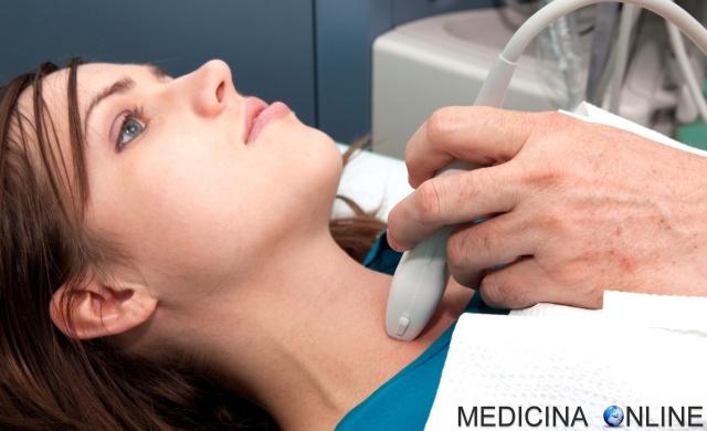 MEDICINA ONLINE TIROIDE ECOGRAFIA TUMORE NODULI IPERTIROIDISMO ORMONI TIROIDEI ENDOCRINOLOGIA IPOTIROIDISMO IMMAGINI DIAGNOSI GOZZO TIROIDEO Thyroid scan ultrasound Radioactive Iodine Ablation Therapy.jpg