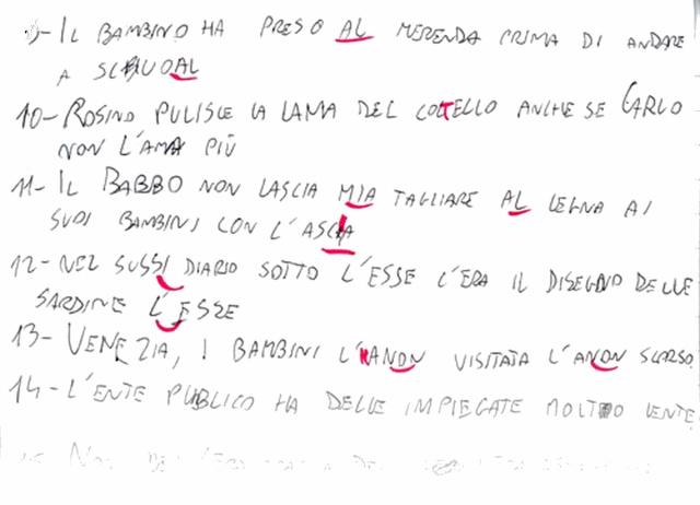 MEDICINA ONLINE DISORTOGRAFIA ESEMPIO 6