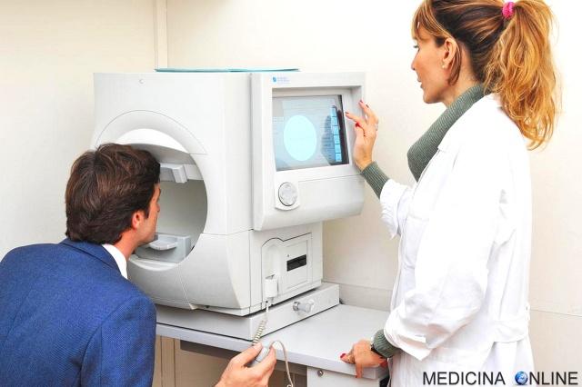 MEDICINA ONLINE ESAME PER LA VALUTAZIONE DEL CAMPO VISIVO RISULTATI INTERPRETAZIONE COSTO OCCHI VISITA OCULISTICA NERVO OTTICO VISIONE