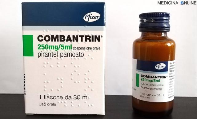 Combantrin pirantel pamoato compresse 250 mg e sospensione orale 250 mg5 ml foglio illustrativo efficace contro vermi parassiti intestinali ossiuri