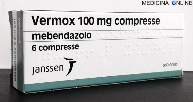 MEDICINA ONLINE Vermox compresse 100 mg FOGLIETTO ILLUSTRATIVO BUGIARDINO POSOLOGIA EFFETTI COLLATERALI CONTROINDICAZIONI