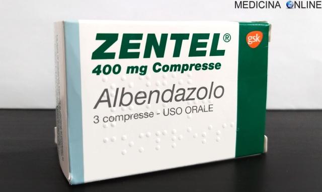 MEDICINA ONLINE ZENTEL ALBENDAZOLO COMPRESSE 400 MG foglio illustrativo efficace contro vermi parassiti intestinali ossiuri.jpg