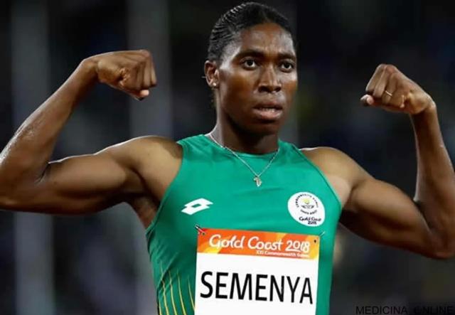 MEDICINA ONLINE Caster Semenya Atletica Tribunale Arbitrale dello Sport Iperandrogenismo femminile testosterone non può gareggiare uomo o donna.jpg