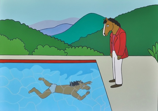 MEDICINA ONLINE BOJACK HORSEMAN IL PANORAMA A META' STRADA CURIOSITA'  Portrait of an Artist Pool with Two Figure David Hockney.jpg