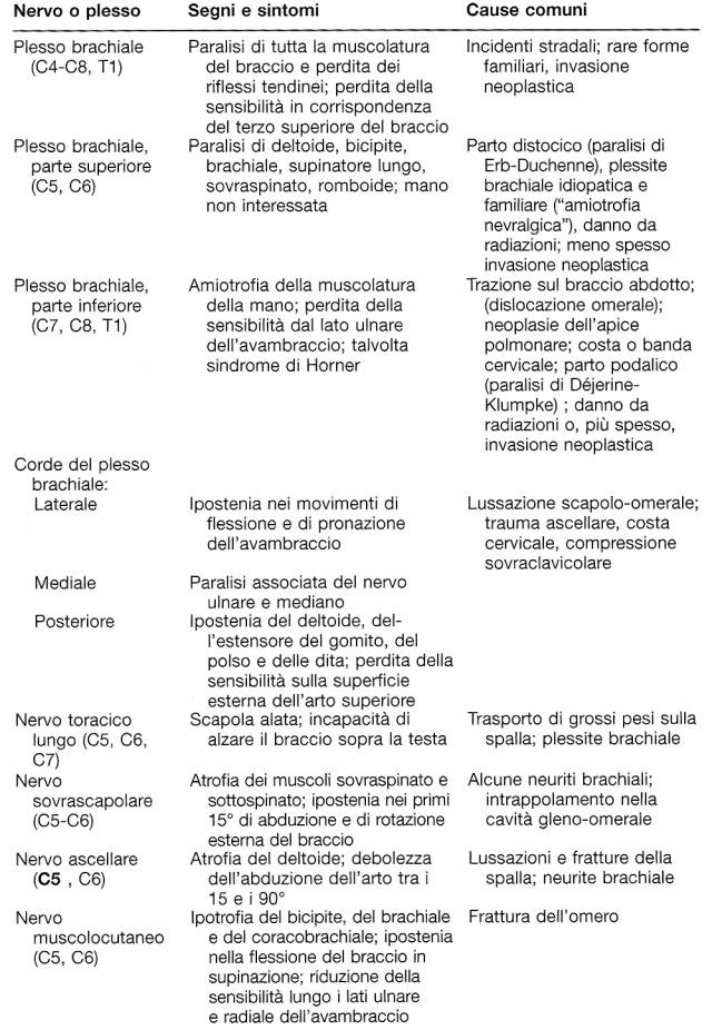 MEDICINA ONLINE mononeuropatie e plessopatie sintomi segni cause tabella 1.jpg